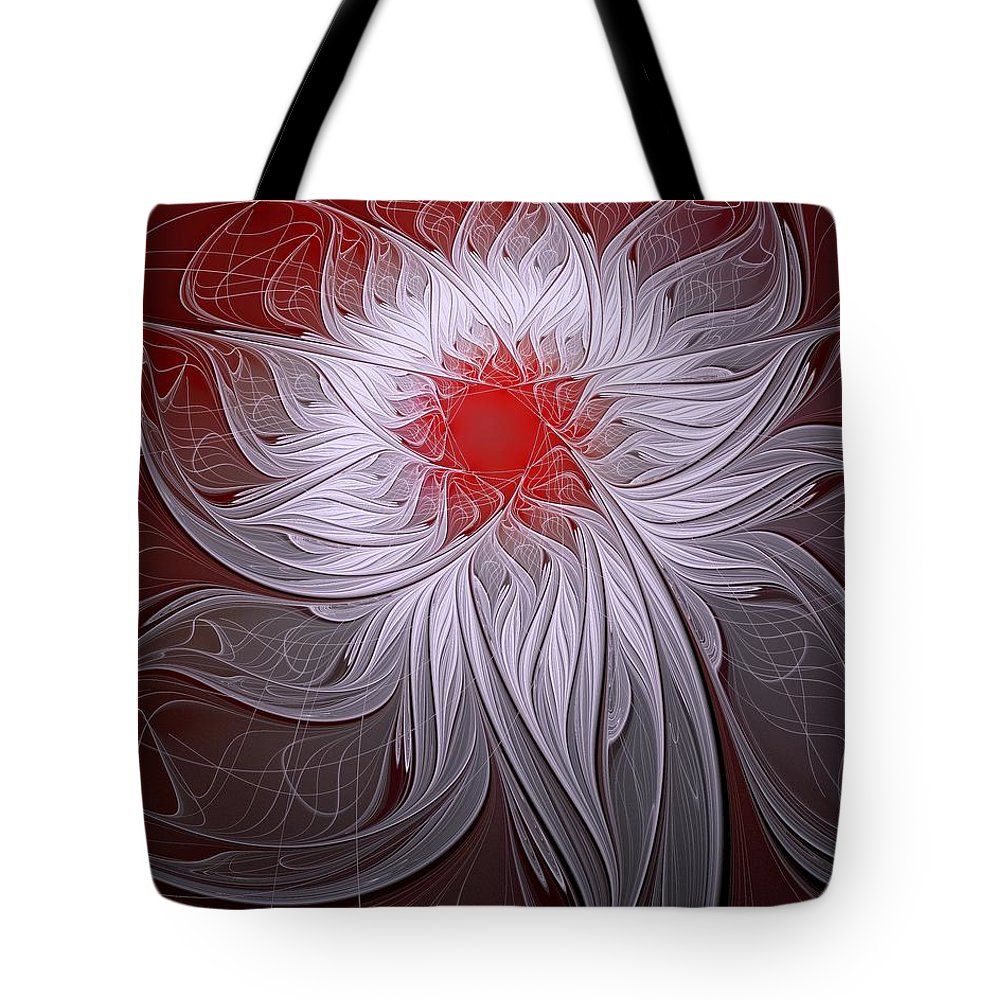 Digital Art Tote Bag featuring the digital art Blush by Amanda Moore