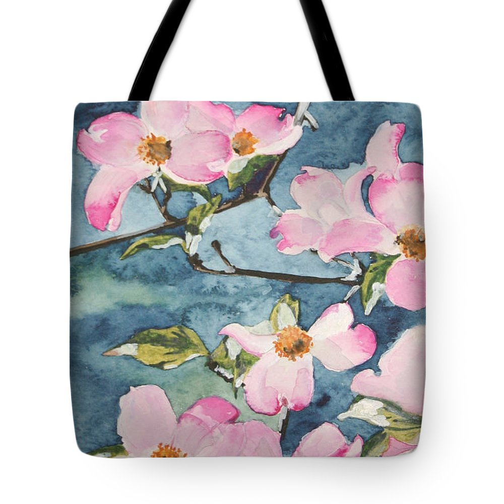 Flowers Tote Bag featuring the painting Blushing Prettily by Jean Blackmer
