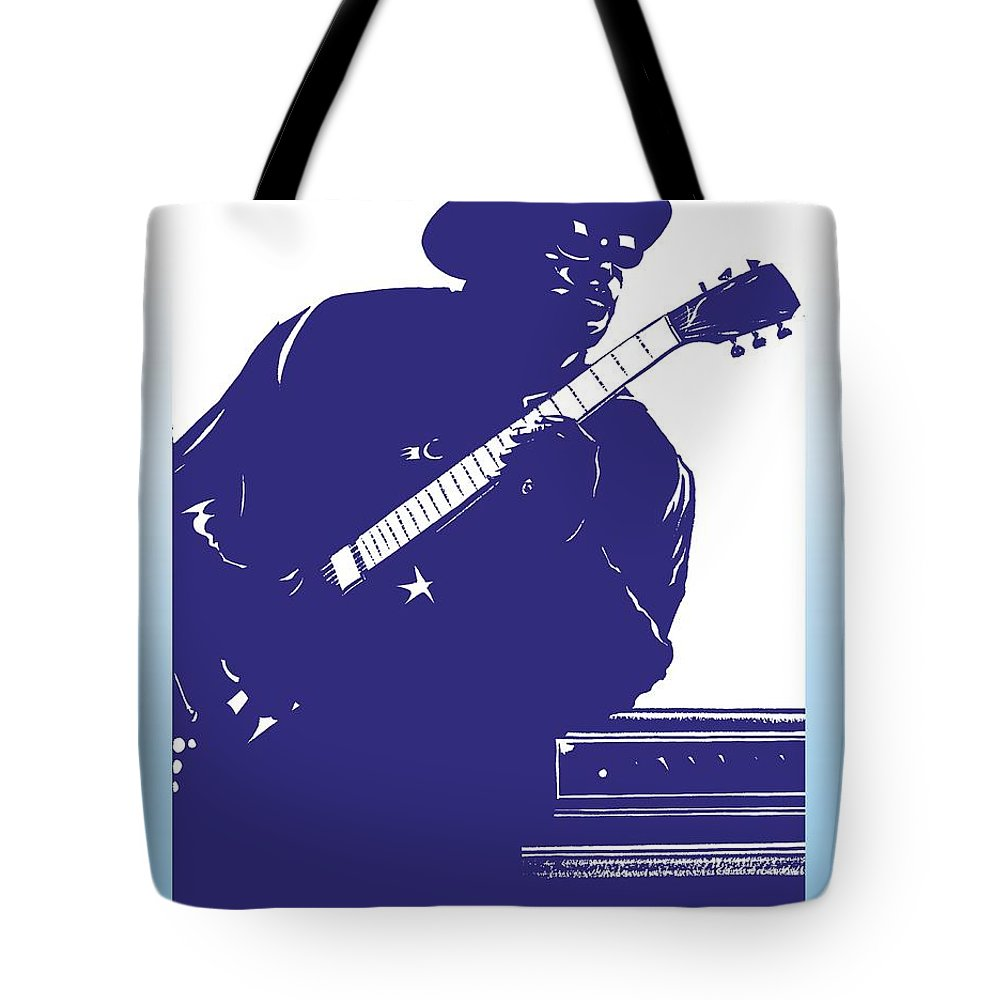 Bo Tote Bag featuring the drawing Bo Diddly by Markus Neal Humby
