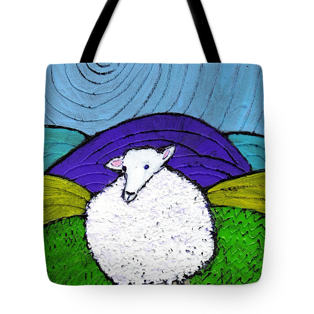 Sheep Tote Bag featuring the painting Bo Peeps Lost Sheep by Wayne Potrafka