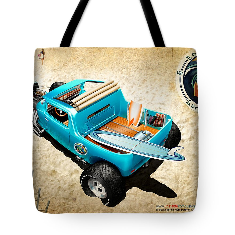 Cars Tote Bag featuring the digital art Board Breaker by Doug Schramm