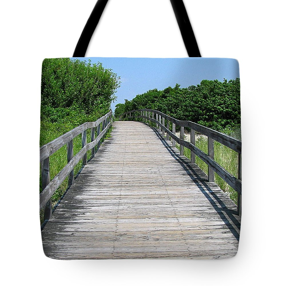 Boardwalk Tote Bag featuring the photograph Boardwalk by Colleen Kammerer