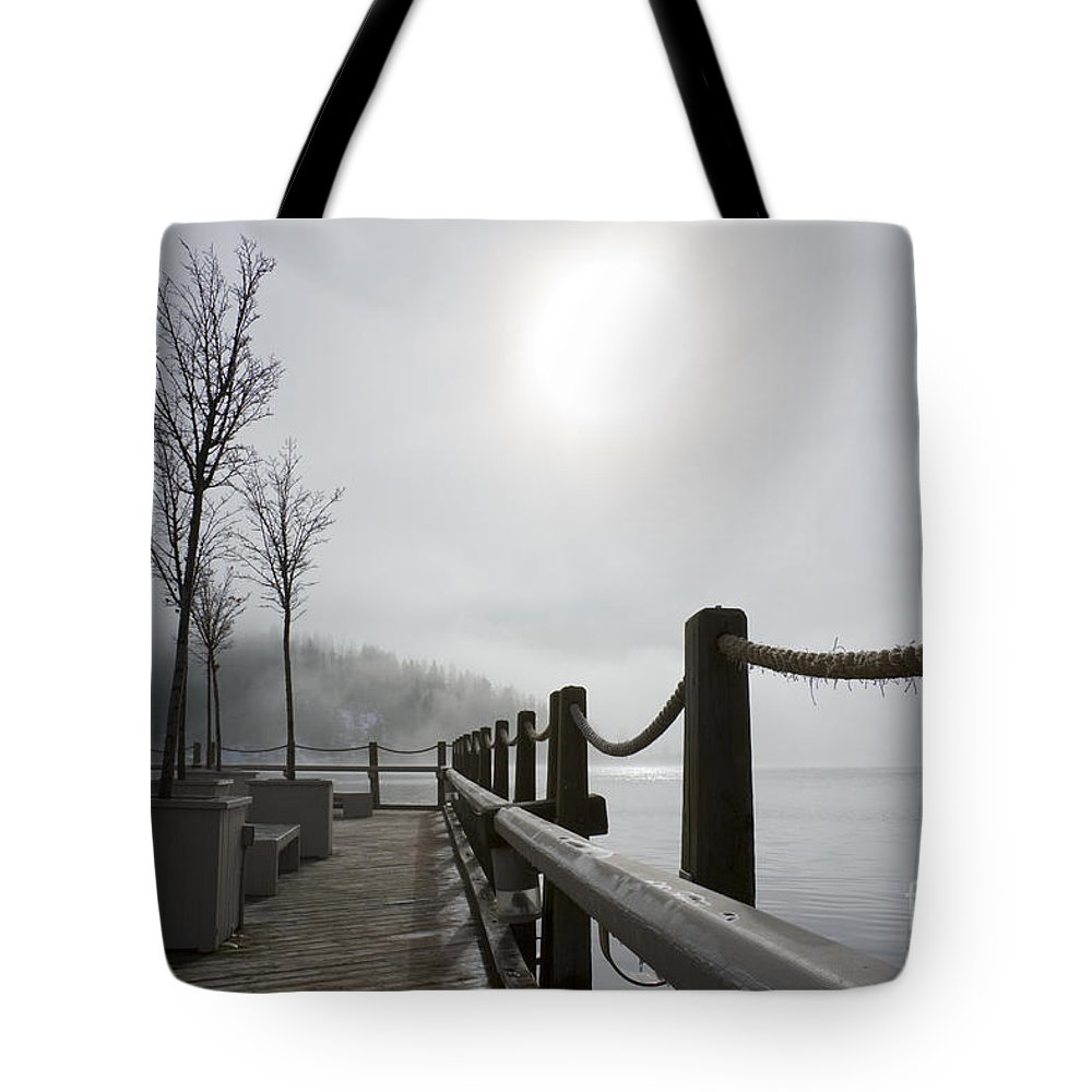 Boardwalk Tote Bag featuring the photograph Boardwalk Dawn by Idaho Scenic Images Linda Lantzy