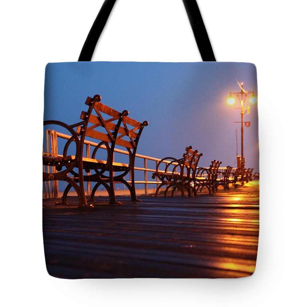 Boardwalk Tote Bag featuring the photograph Boardwalk by Mitch Cat