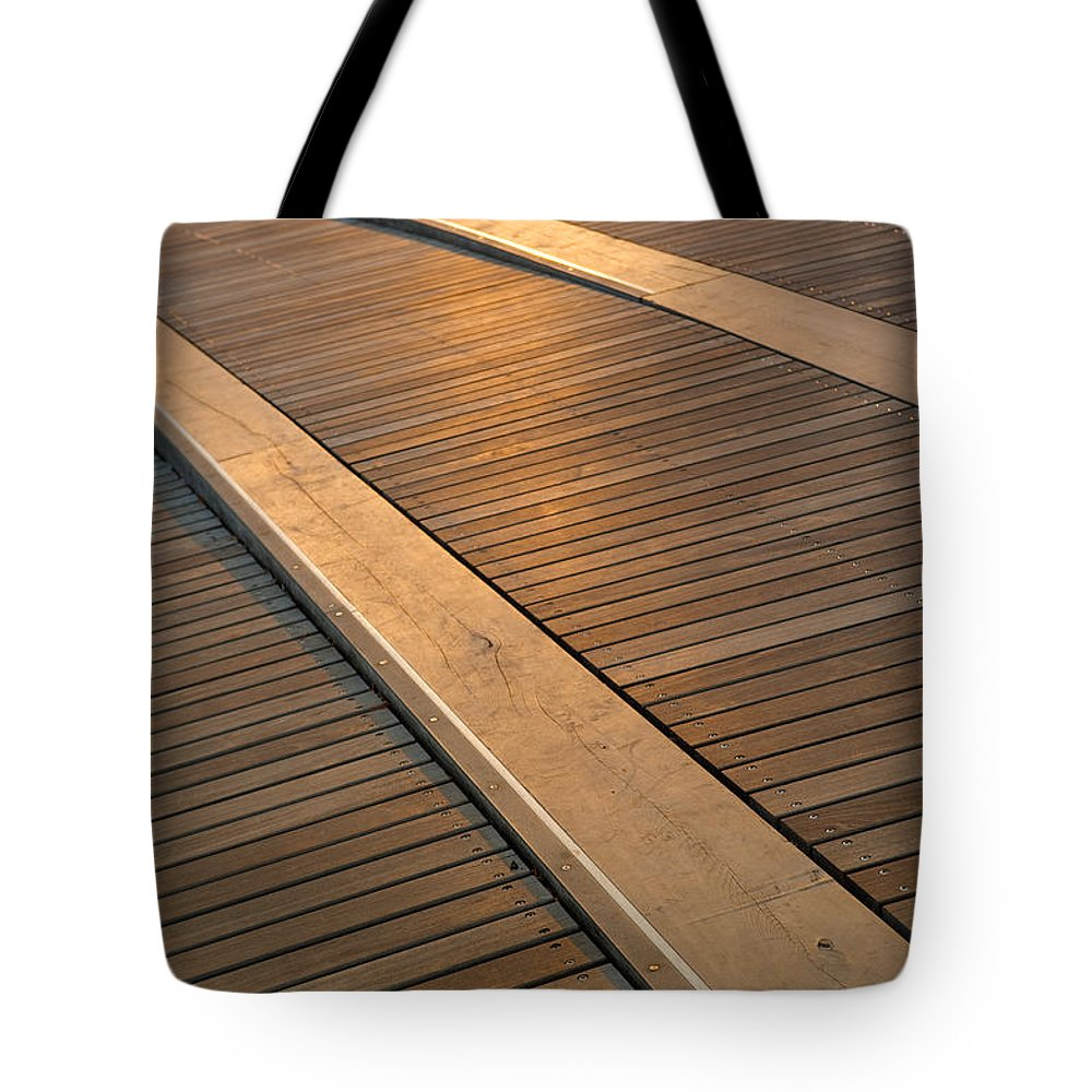 Boardwalk Tote Bag featuring the photograph Boardwalk by Sebastian Musial