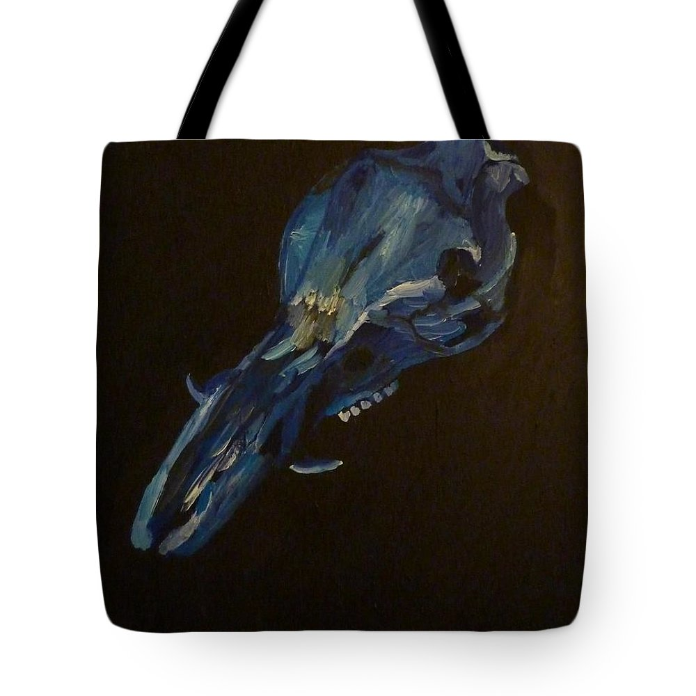 Boar Tote Bag featuring the painting Boar's Skull No. 2 by Joshua Redman