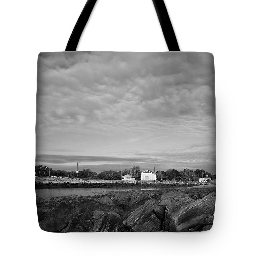 Boat House Tote Bag featuring the photograph Boat Houses by Stephanie McDowell