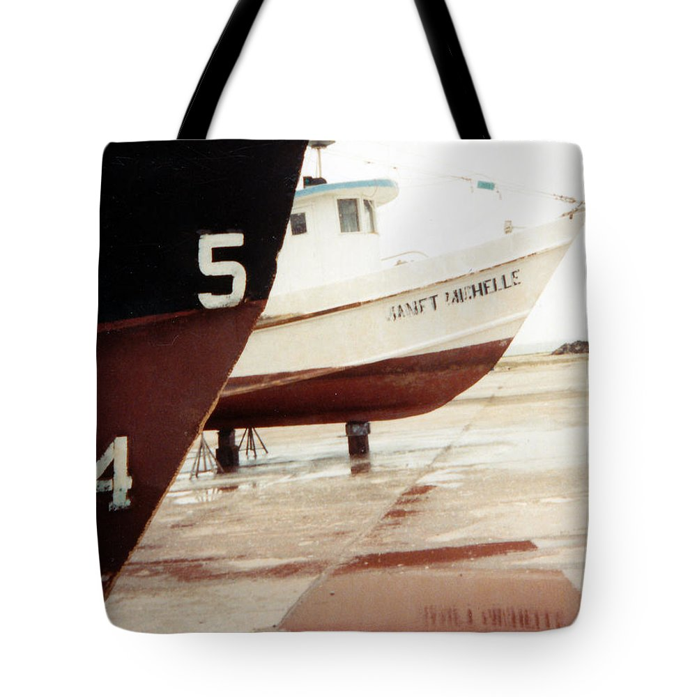 Boat Reflection Tote Bag featuring the photograph Boat Reflection 2 by Cindy New