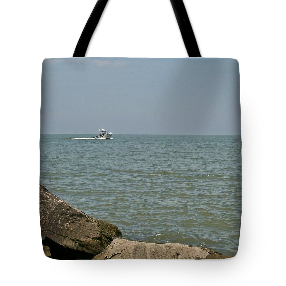 Boat Tote Bag featuring the photograph Boating Fun by Sara Raber