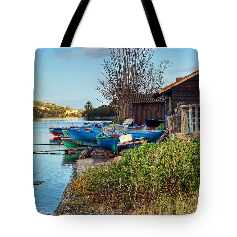 Boat Tote Bag featuring the photograph Boats At Rest by Silvia Ganora