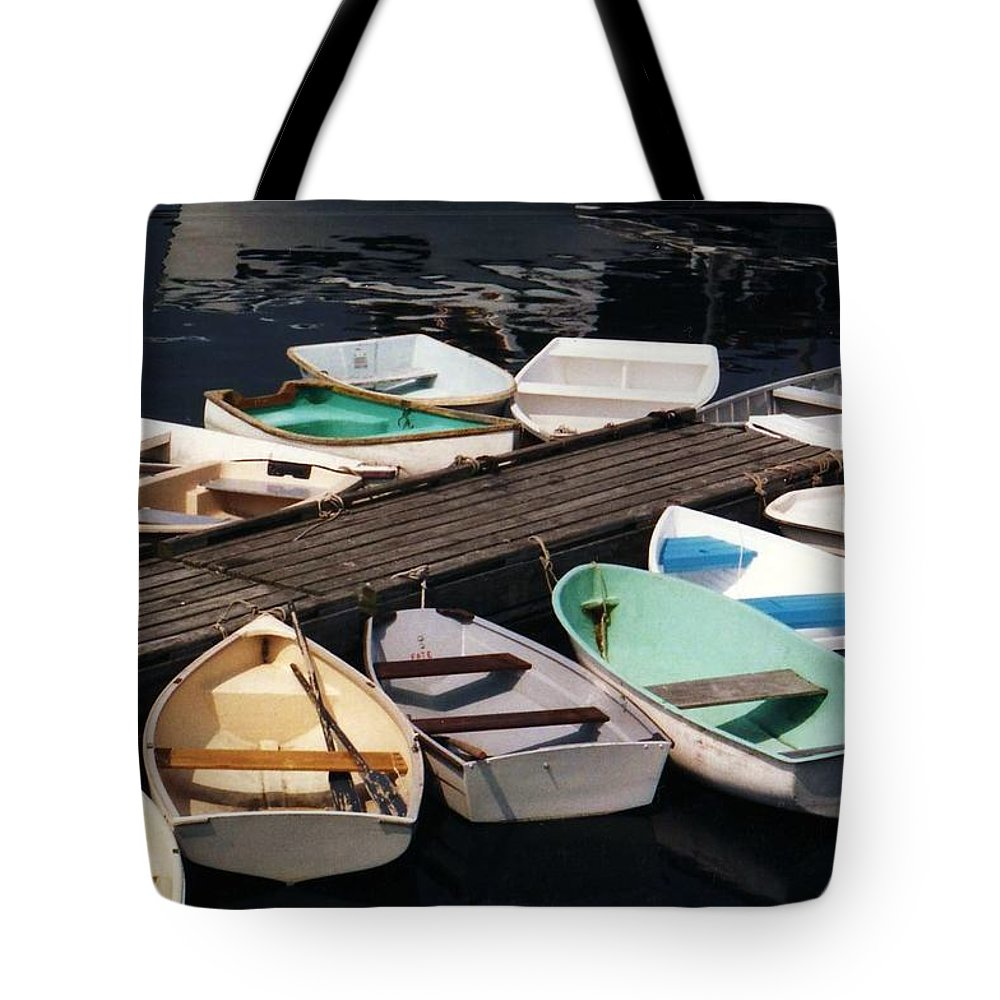 Boats Tote Bag featuring the photograph Boats In Waiting by John Scates