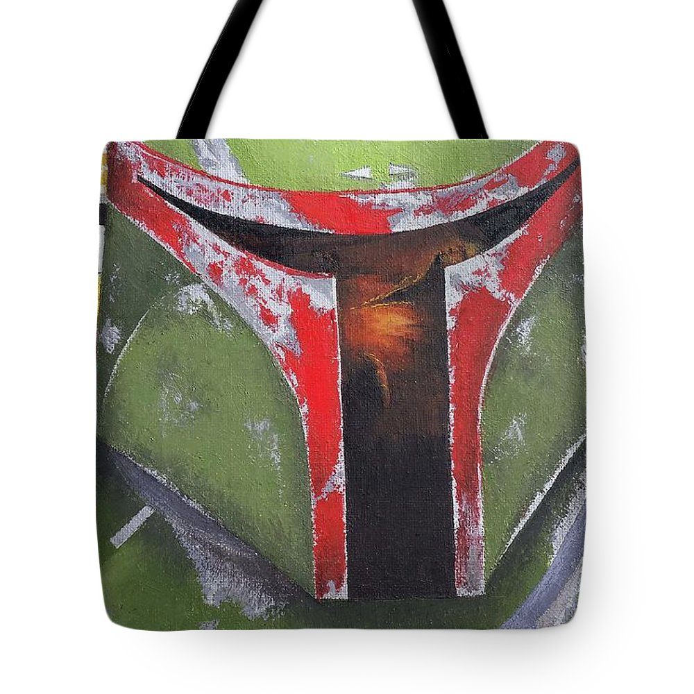 Tote Bag featuring the painting Boba Fett by Simon Salazar