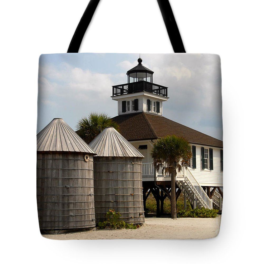 Port Boca Grande Tote Bag featuring the photograph Boca Grande Lighthouse by David Lee Thompson
