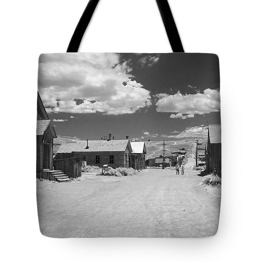 Ghost Town Tote Bag featuring the photograph Bodie A Ghost Town Infrared by Christine Till