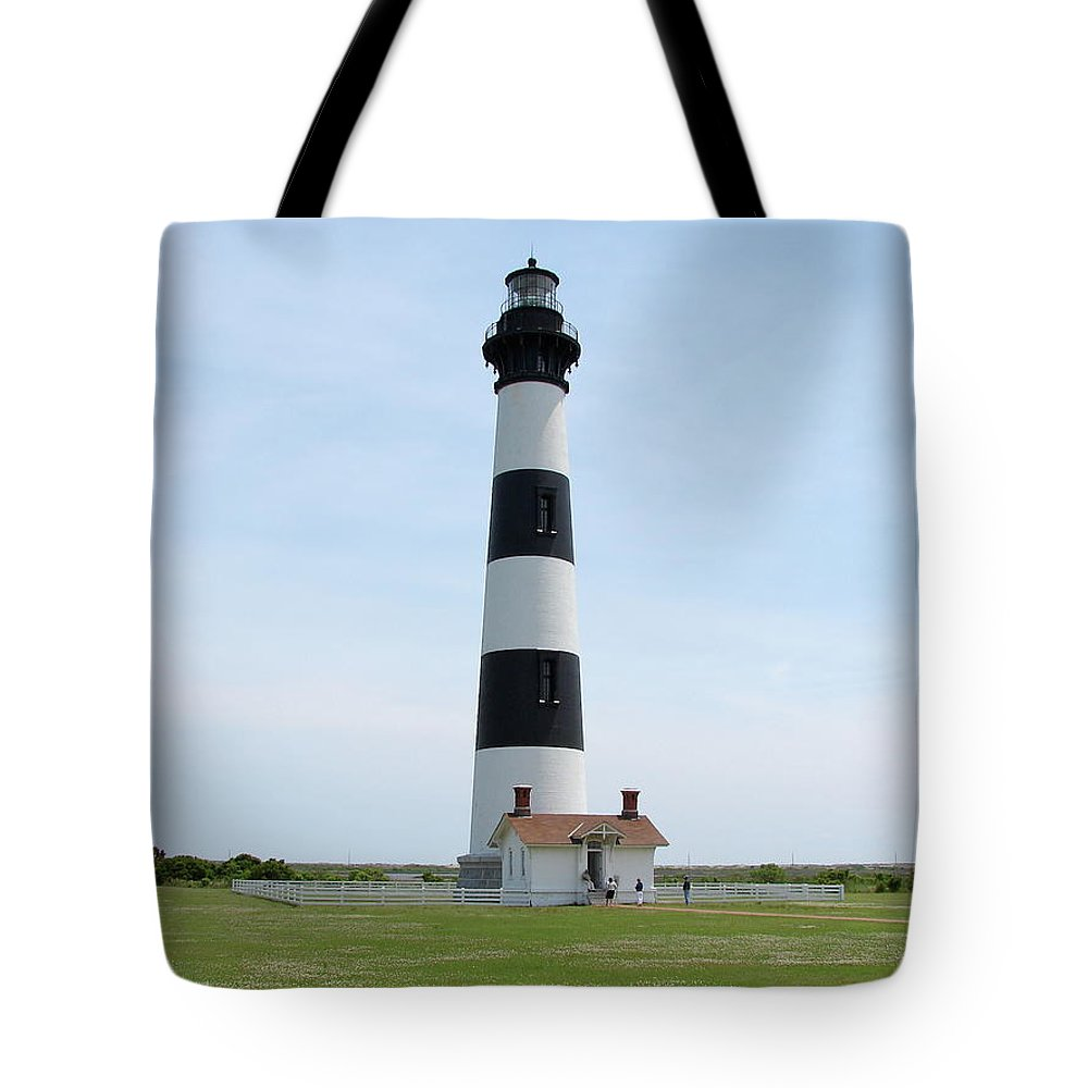 Bodie Lighthouse Tote Bag featuring the photograph Bodie Lighthouse Nags Head Nc II by Brett Winn
