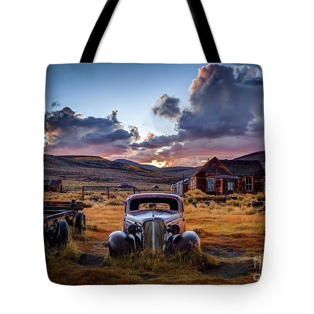 Bodie California Photographs Tote Bags
