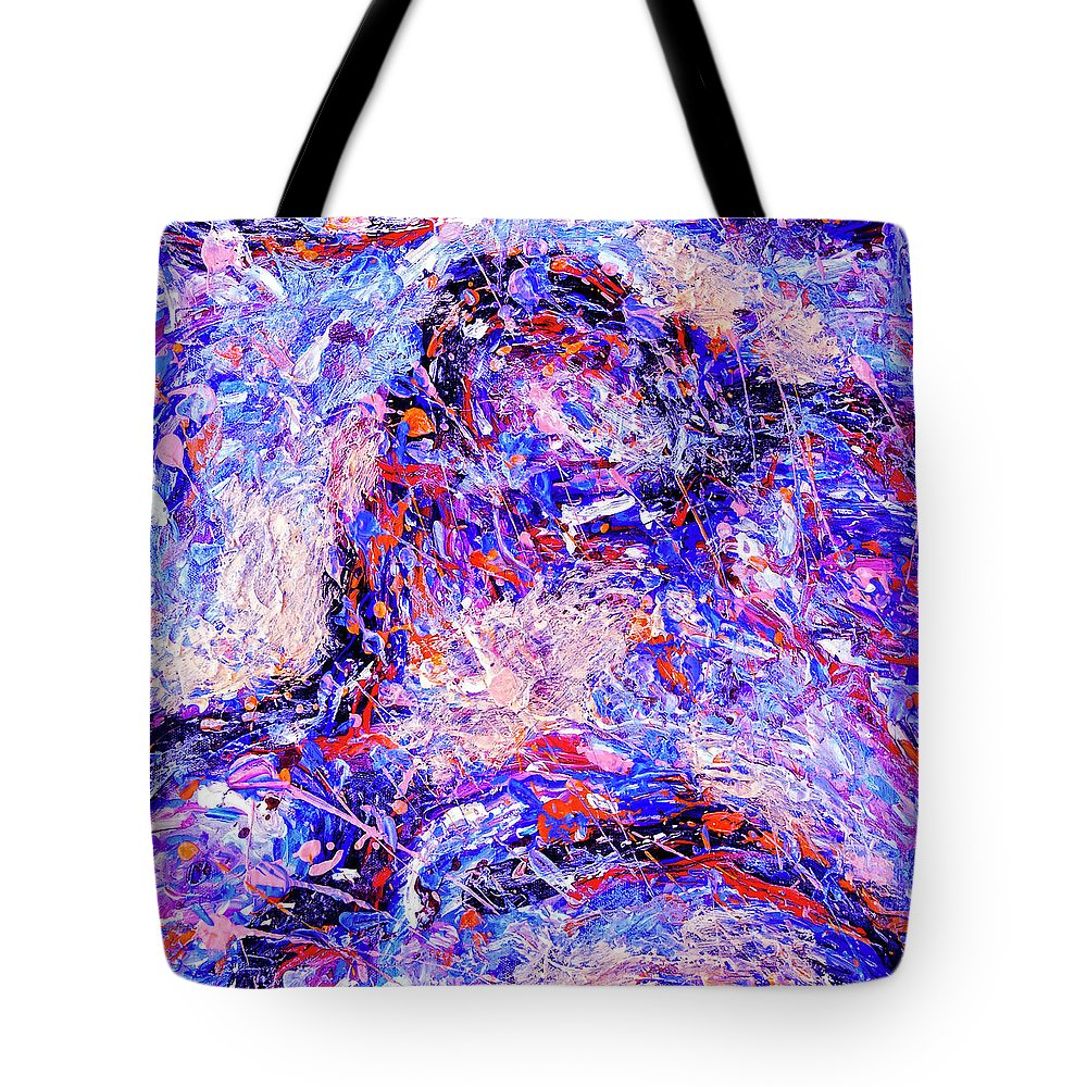 Abstract Tote Bag featuring the painting Body Electric by Dominic Piperata