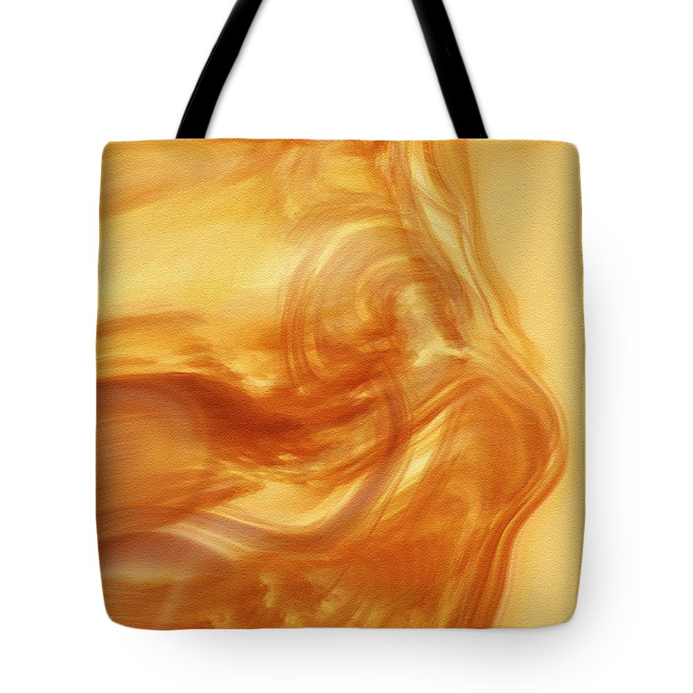 Abstract Art Tote Bag featuring the digital art Body Heat by Linda Sannuti