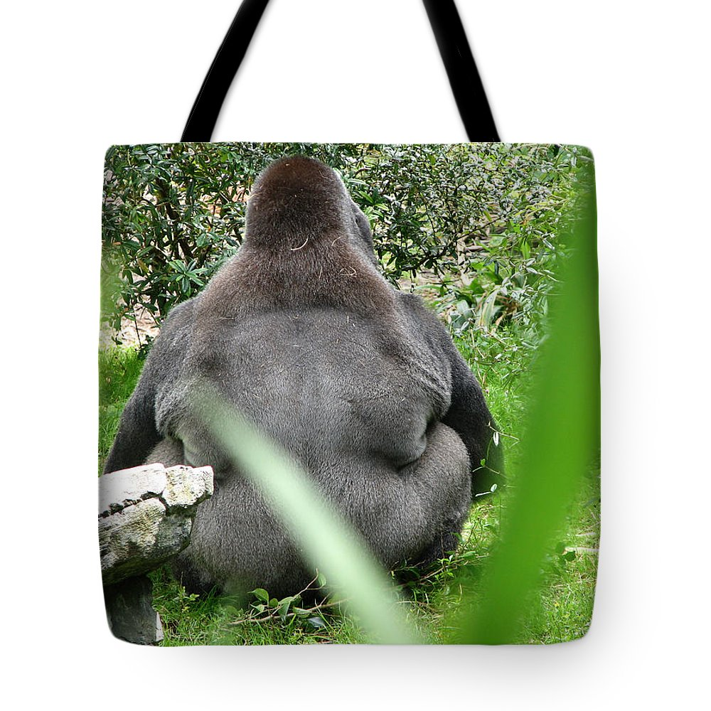Gorilla Tote Bag featuring the photograph Body Language by Stacey May