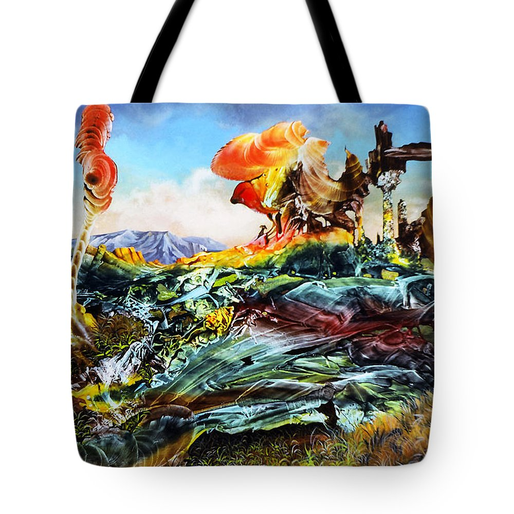 Landscape Tote Bag featuring the painting Bogomil Landscape by Otto Rapp
