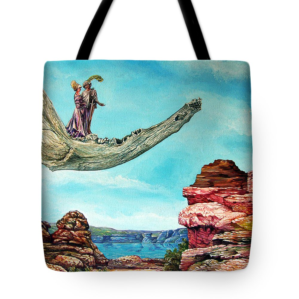 Painting Tote Bag featuring the painting Bogomils Journey by Otto Rapp