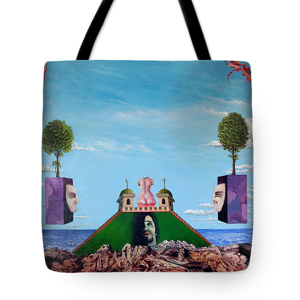 Painting Tote Bag featuring the painting Bogomils Monastic Retreat by Otto Rapp