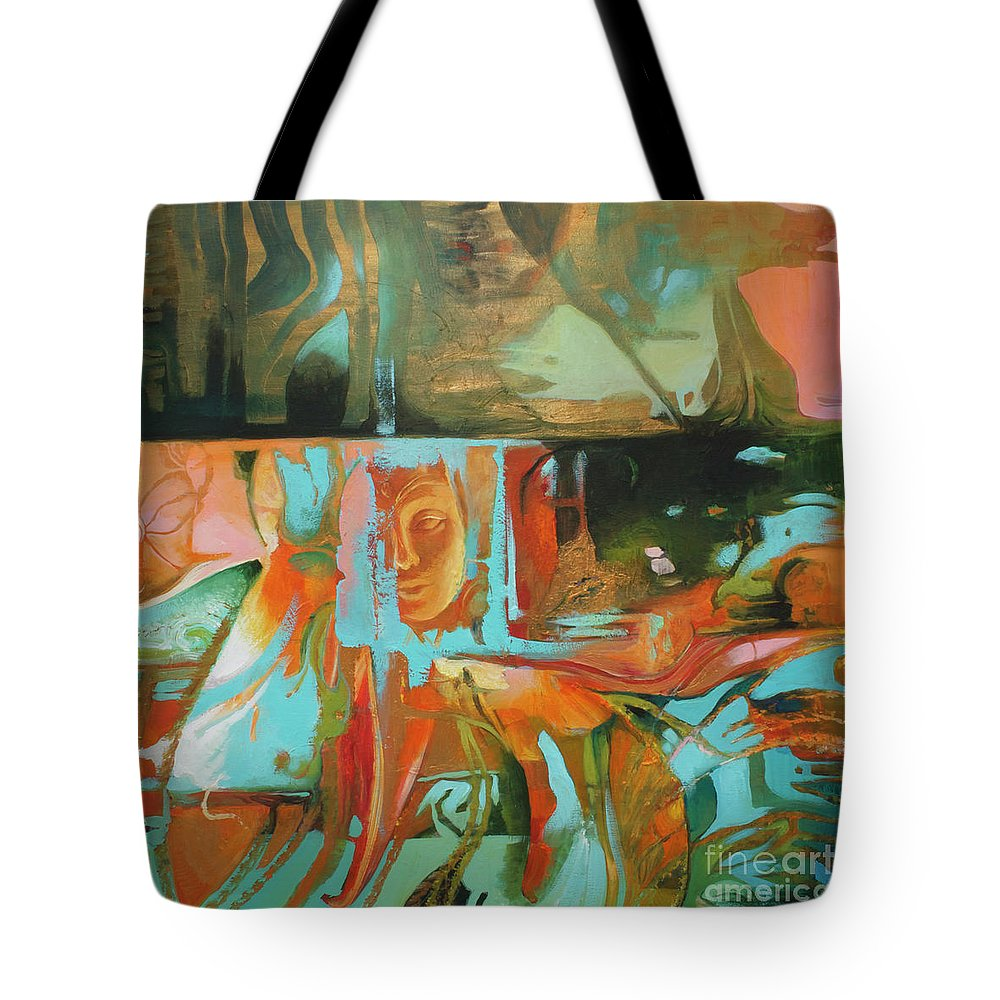 Lin Petershagen Tote Bag featuring the painting Bohemian Mix by Lin Petershagen