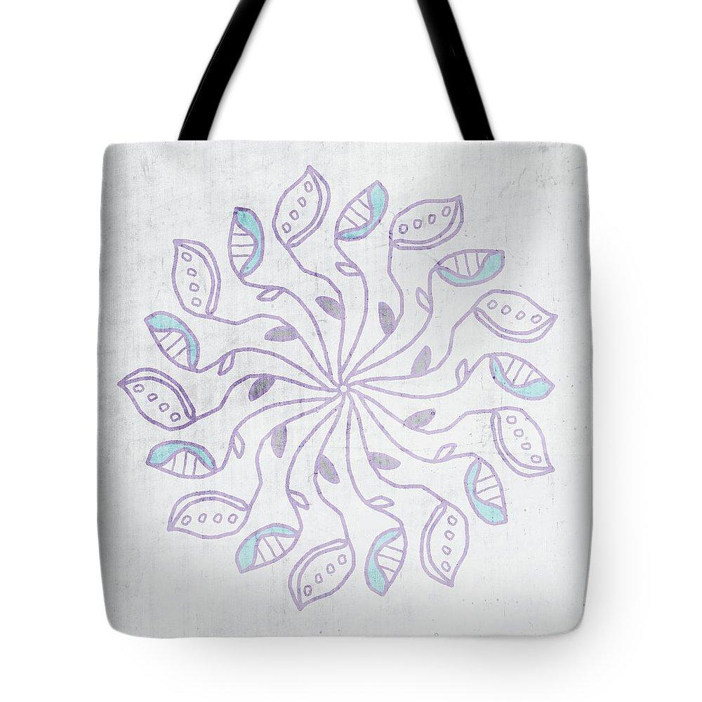 Mandala Tote Bag featuring the mixed media Boho Floral Mandala 3- Art by Linda Woods by Linda Woods