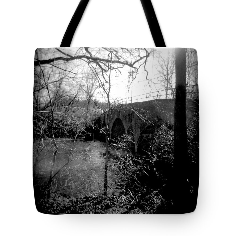 Photograph Tote Bag featuring the photograph Boiling Springs Bridge by Jean Macaluso