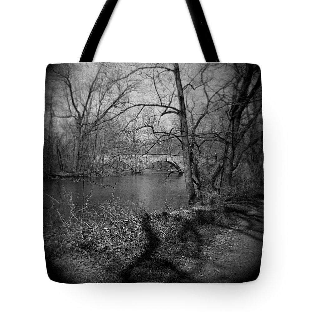 Photograph Tote Bag featuring the photograph Boiling Springs Stone Bridge by Jean Macaluso