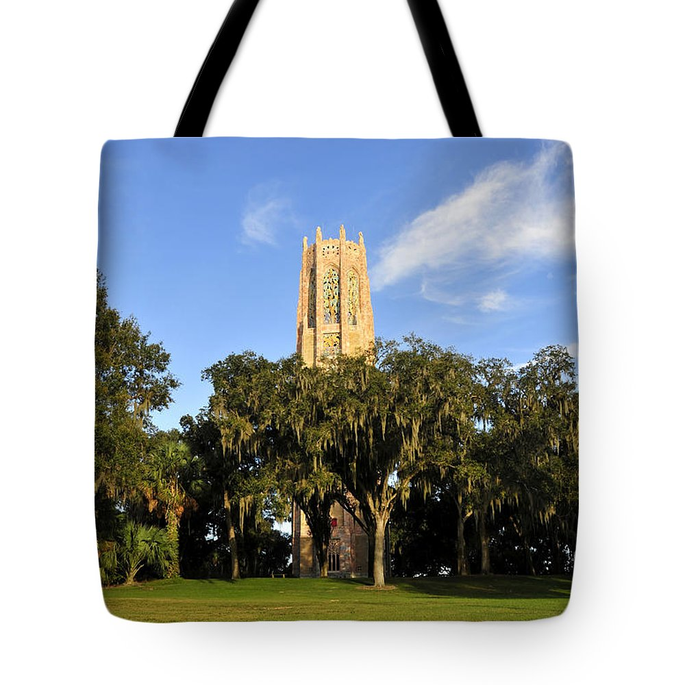 Bok Tower Tote Bag featuring the photograph Bok Tower Sanctuary by David Lee Thompson