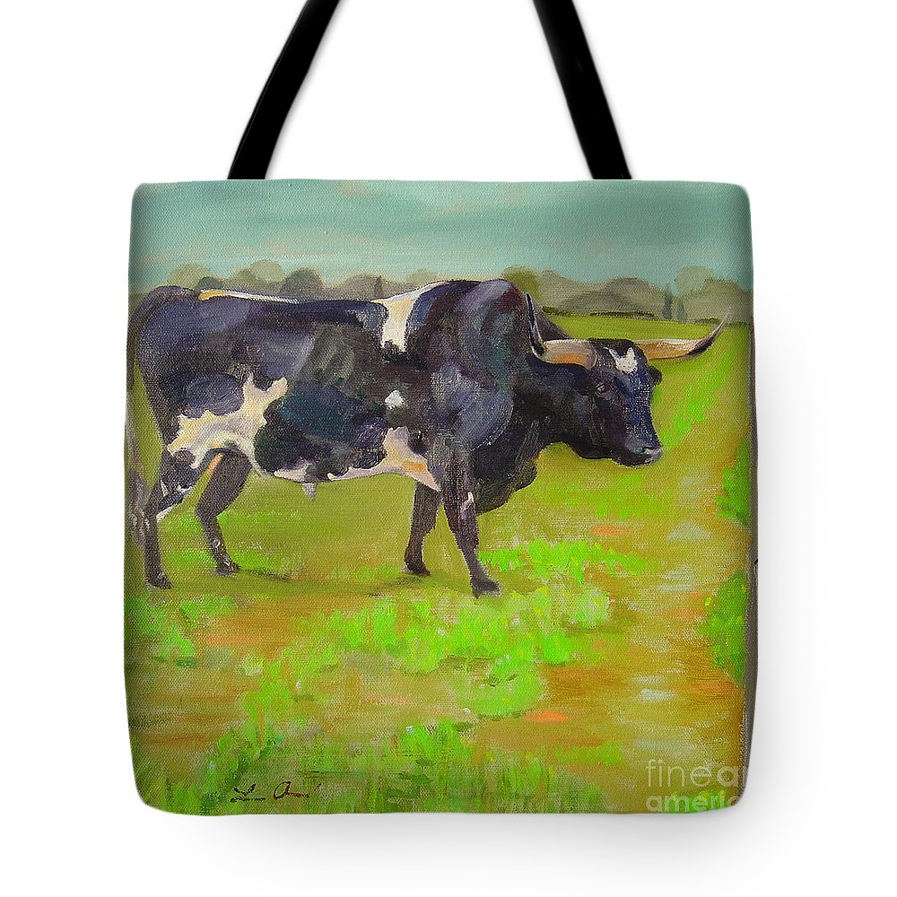 Southwest Tote Bag featuring the painting Bold Beauty by Lilibeth Andre