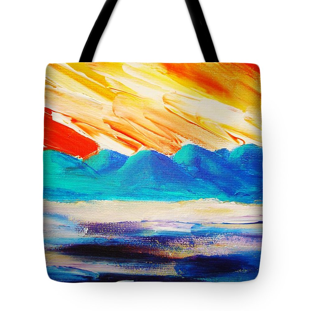 Bright Tote Bag featuring the painting Bold Day by Melinda Etzold