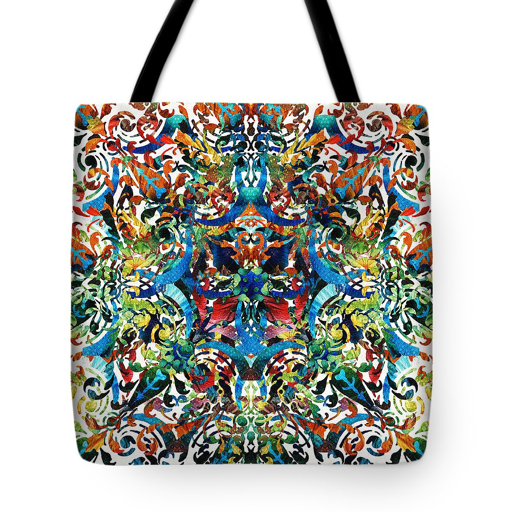 9f63fd300bc5 Mandala Tote Bag featuring the painting Bold Pattern Art - Color Fusion  Design 8 By Sharon