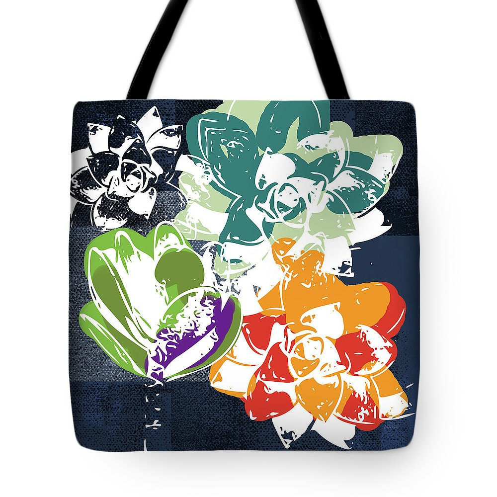 Cacti Mixed Media Tote Bags