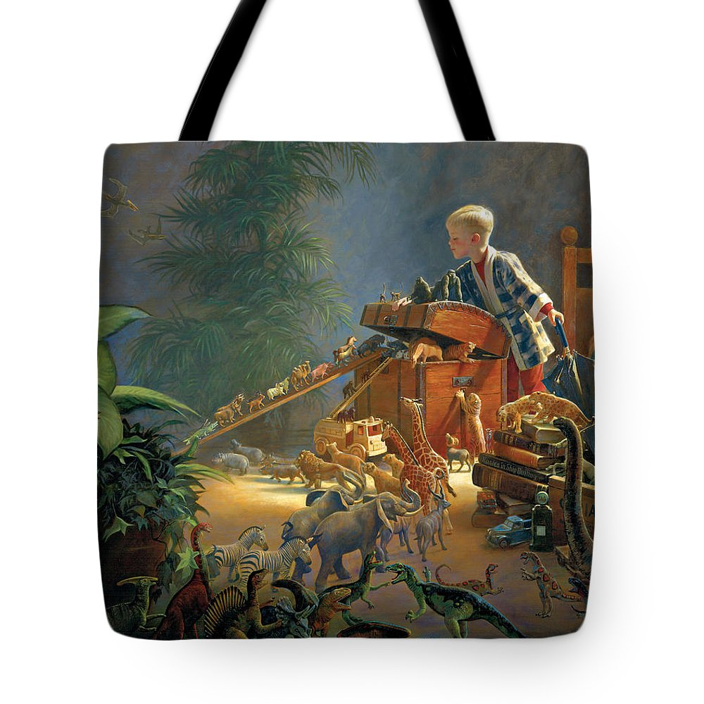 Noah's Ark Tote Bag featuring the painting Bon Voyage by Greg Olsen