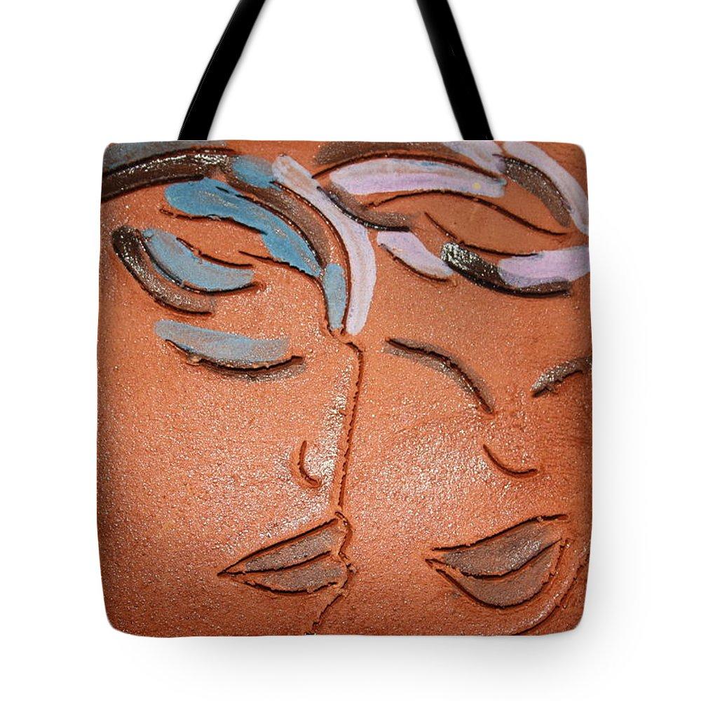 Jesus Tote Bag featuring the ceramic art Bonds - Tile by Gloria Ssali