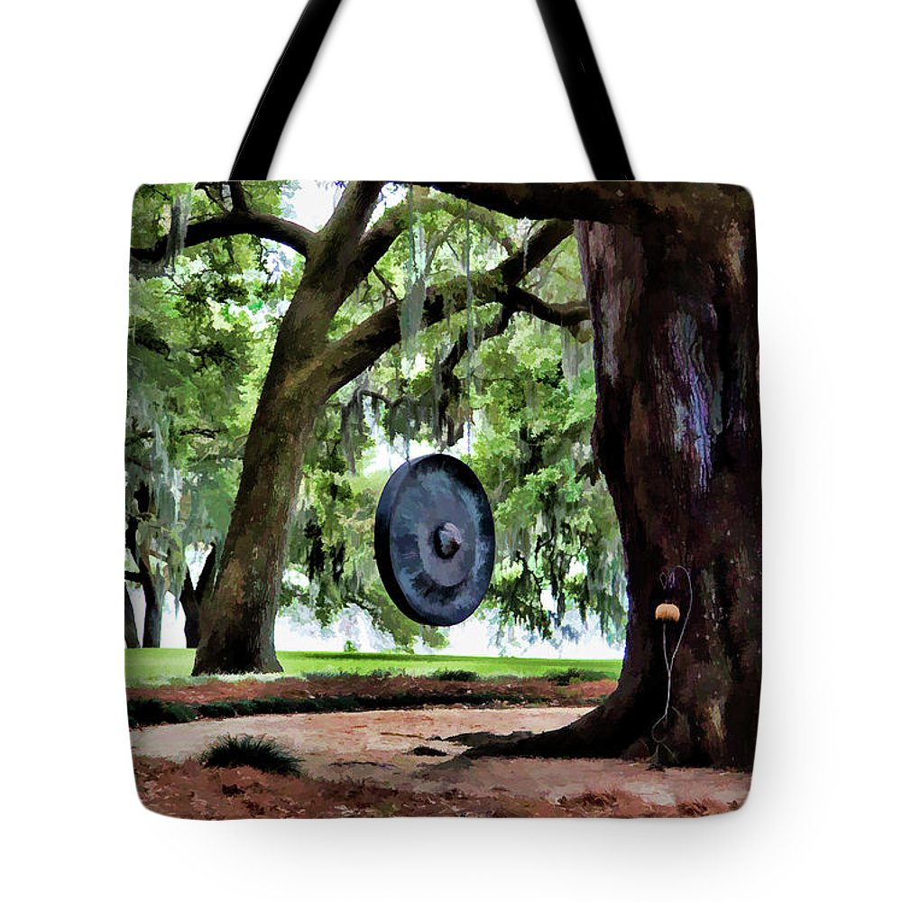 Landscape Tote Bag featuring the photograph Bonggggg Rip Van Winkle Gardens Paint by Chuck Kuhn