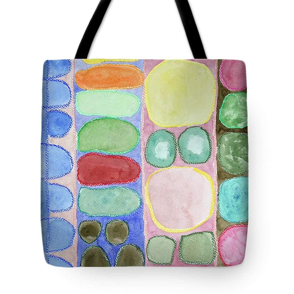 Round Tote Bag featuring the painting Bongo by Heidi Capitaine