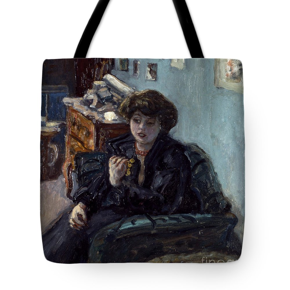 19th Century Tote Bag featuring the photograph Bonnard: Lady, 19th C by Granger