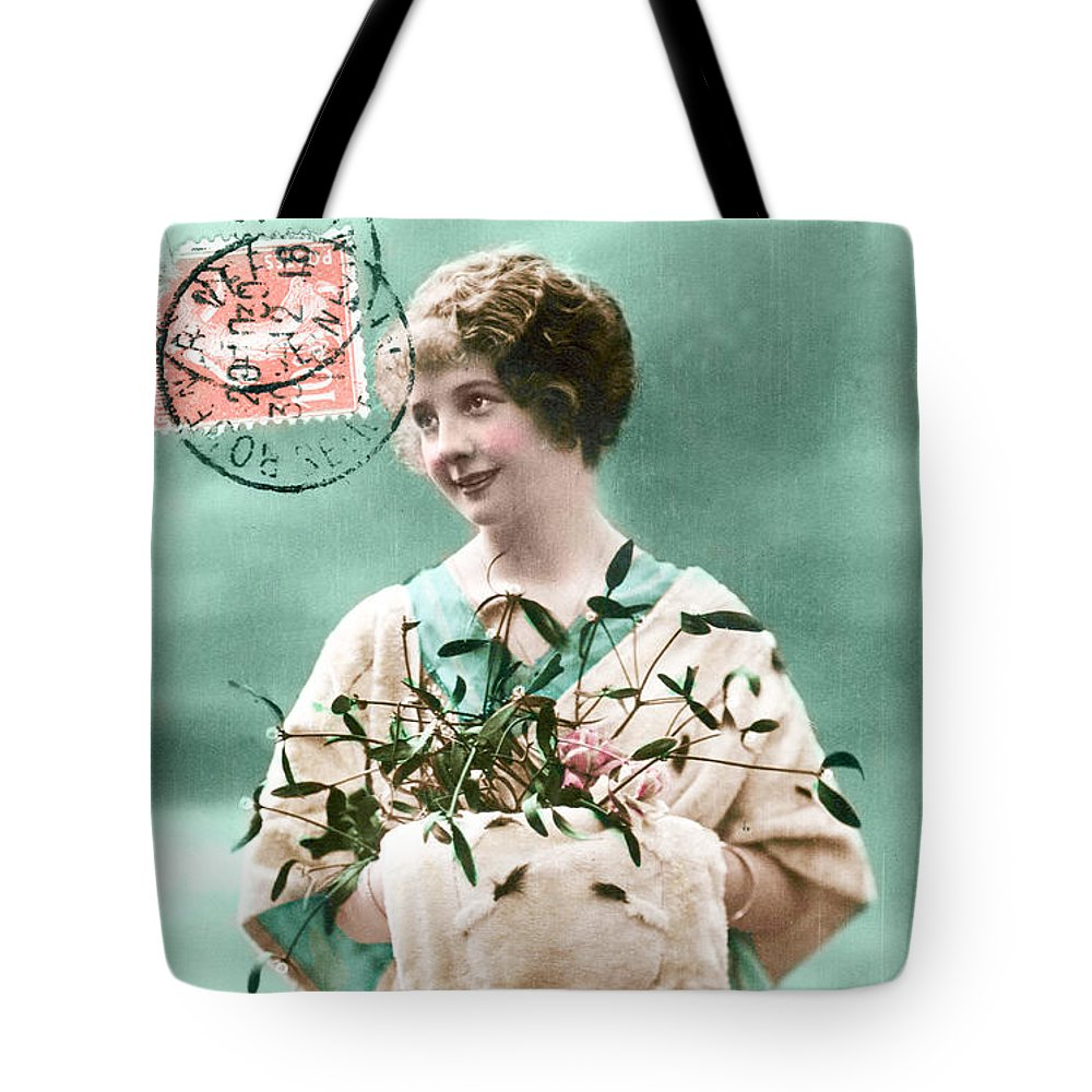 New Year Tote Bag featuring the photograph Bonne Annee Vintage Woman by Delphimages Photo Creations