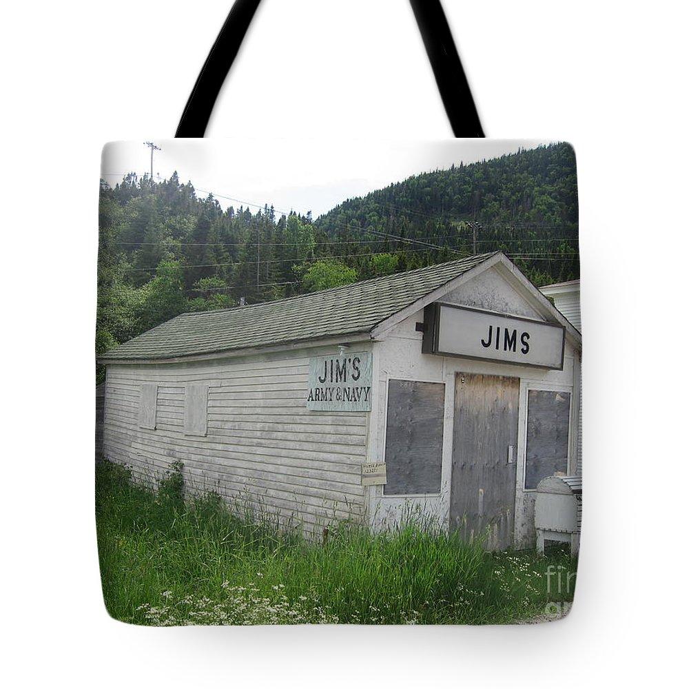 Photograph Bonne Bay Newfoundland Army Navy Store Tote Bag featuring the photograph Bonne Bay2 by Seon-Jeong Kim
