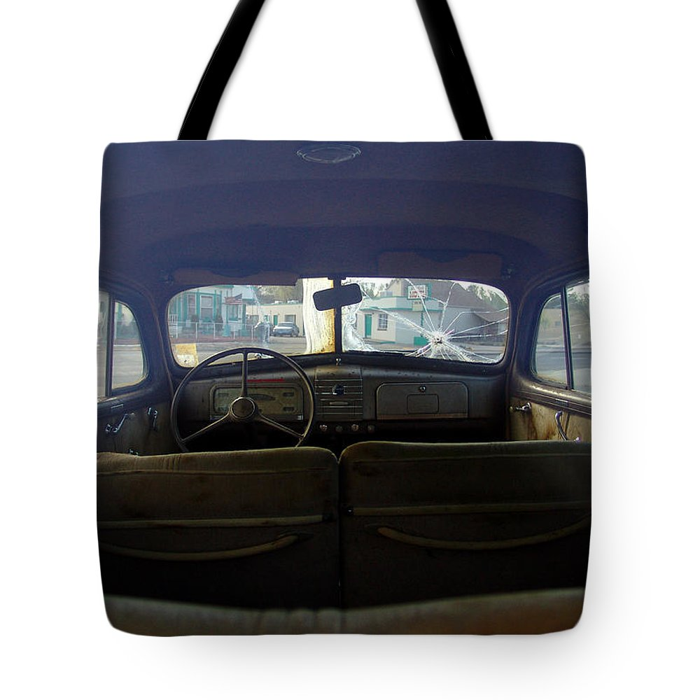 Classic Cars Tote Bag featuring the photograph Bonnie and Clyde by Carol Milisen