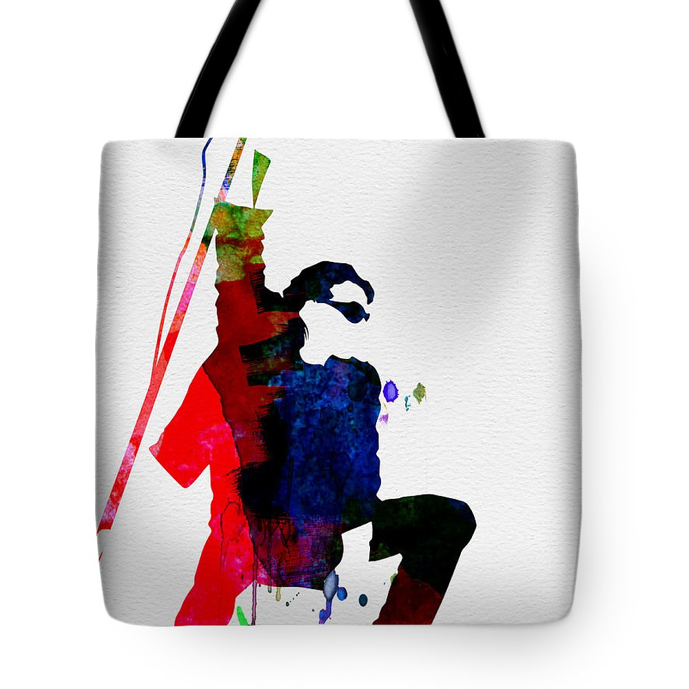 Bono Tote Bag featuring the painting Bono Watercolor by Naxart Studio