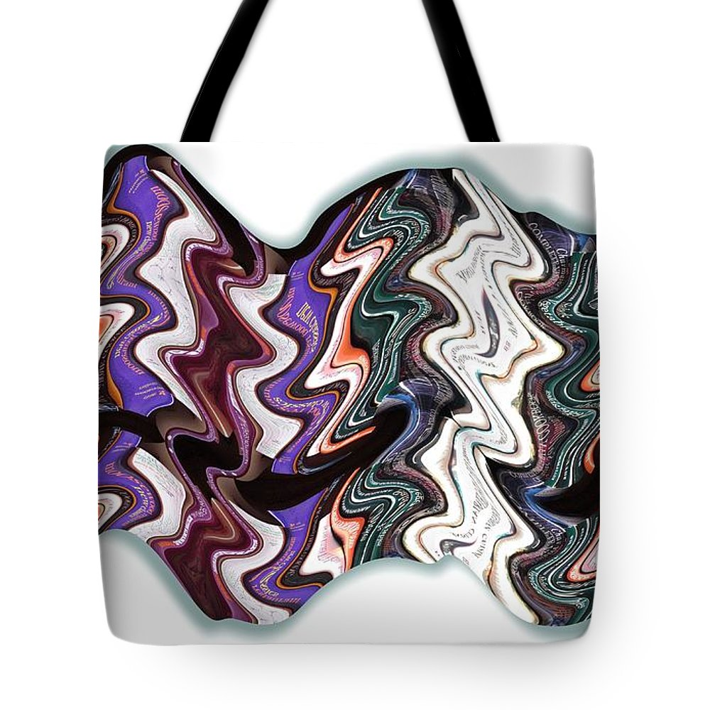 Books Tote Bag featuring the digital art Book Case by Ron Bissett