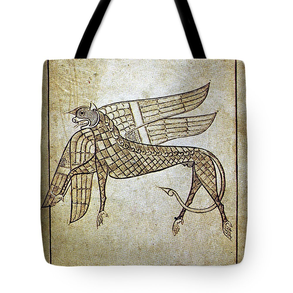 680 Tote Bag featuring the photograph Book Of Durrow, C680 A.d by Granger