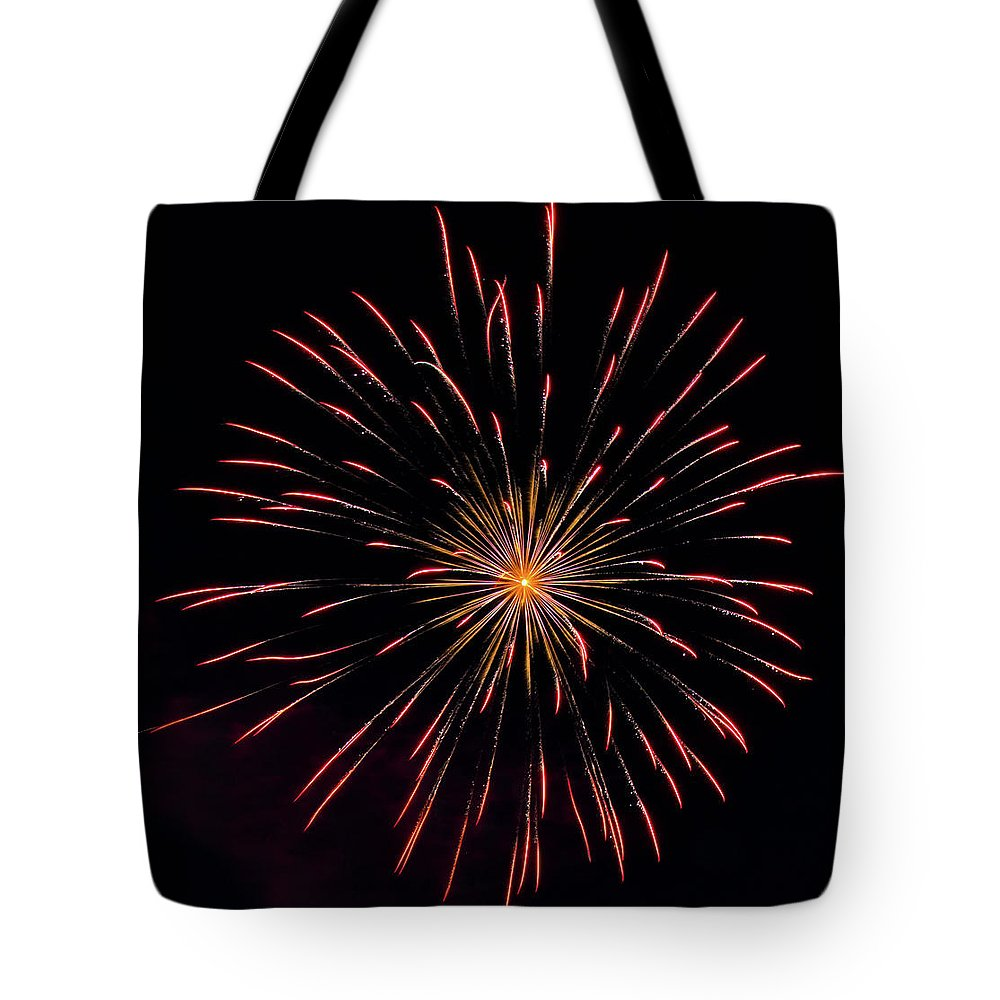 Fireworks Tote Bag featuring the photograph Boom 18 by Andrew Zuber