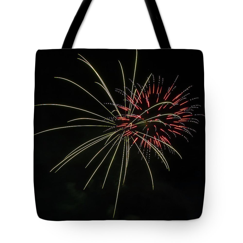 Fireworks Tote Bag featuring the photograph Boom 7 by Andrew Zuber