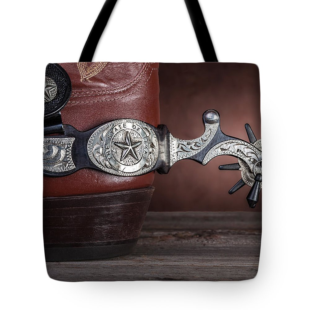 Texas Tote Bag featuring the photograph Boot Heel With Texas Spur by Tom Mc Nemar