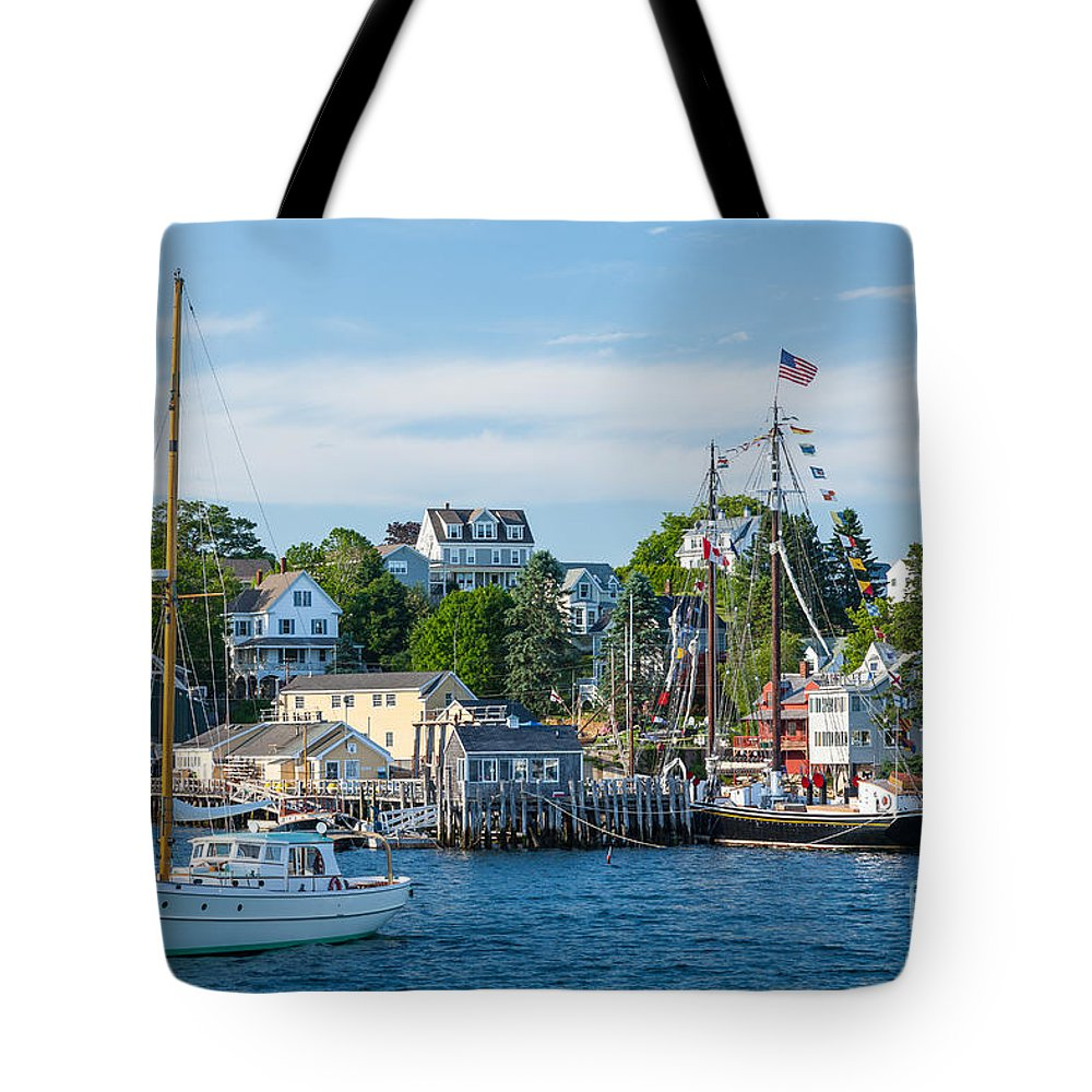 America Tote Bag featuring the photograph Boothbay Harbor by Susan Cole Kelly